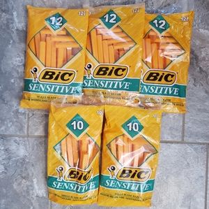 Lot of 5 - BIC Sensitive Razors - Pack of 12